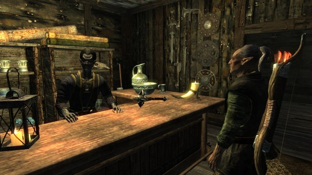 """Faendal's doing the talking, does that mean I'm the muscle?"""